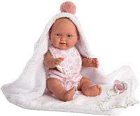 Пупс Llorens Малышка в розовом халате / 26274 -