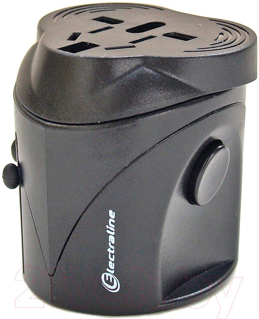 Адаптер питания сетевой Electraline, 70014, Китай, черный  - купить со скидкой