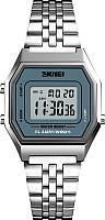 Часы наручные мужские Skmei 1345-1 (серебристый/синий) -
