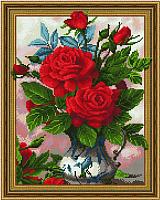 Набор алмазной вышивки Picasso Красные розы в вазе (5PD4050018) -