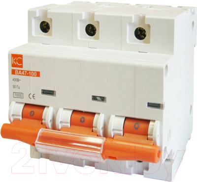 Выключатель автоматический КС BA 47-100 3P 40A С