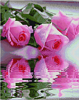 Набор алмазной вышивки Picasso Отражение роз (PD4050121) -