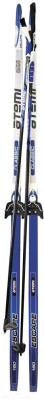 Комплект беговых лыж Atemi Escape NN75 step 190 (синий)