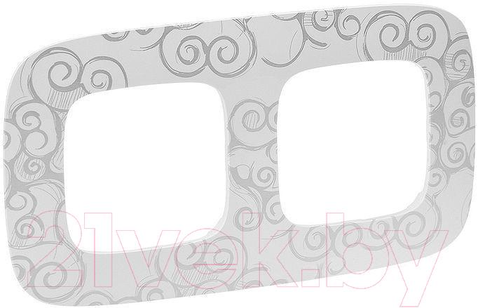 Купить Рамка для выключателя Legrand, Valena Allure 754342 (нарцисс/хром), Франция, пластик, Valena Allure (Legrand)