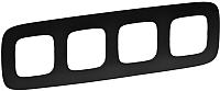 Рамка для выключателя Legrand Valena Allure 754404 (матовый черный) -