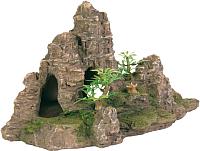 Декорация для аквариума Trixie Гора с растениями / 8853 -