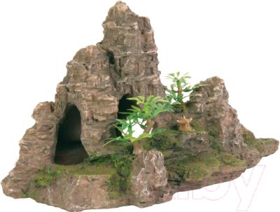 Декорация для аквариума Trixie Гора с растениями / 8853