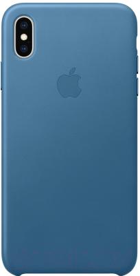 Чехол-накладка Apple Leather Case for iPhone XS Max Cape Cod Blue / MTEW2