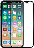 Защитное стекло для телефона Case 3D для iPhone XR (черный глянец) -