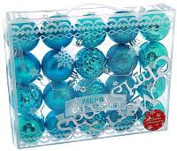 Набор ёлочных игрушек Зимнее волшебство Нобиле / 2178257 (голубой, 21шт) -
