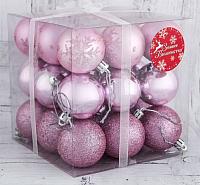Набор ёлочных игрушек Зимнее волшебство Танец снежинок / 3531467 (розовый, 27шт) -