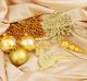 Набор ёлочных игрушек Зимнее волшебство Волшебный олень / 3505616 (золото, 32шт) -