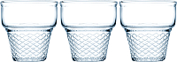 Набор креманок Pasabahce Мини корнет 410006/1090009 (3шт, голубой) -
