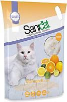 Наполнитель для туалета Sanicat Professional Diamonds Citric (15л) -
