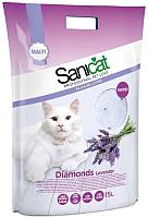 Наполнитель для туалета Sanicat Professional Diamonds Lavender (15л) -