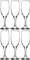 Набор бокалов для шампанского Pasabahce Бистро 44419/1017043 (6шт) -