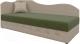 Тахта Mebelico 74 левый (микровельвет, зеленый/бежевый) -