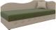 Тахта Mebelico 74 правый (микровельвет, зеленый/бежевый) -