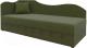 Тахта Mebelico 74 левый (микровельвет, зеленый) -