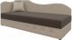 Тахта Mebelico 74 левый (микровельвет, коричневый/бежевый) -