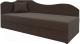 Тахта Mebelico 74 левый (микровельвет, коричневый) -