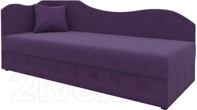 Тахта Mebelico 74 левый (микровельвет, фиолетовый)