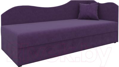 Тахта Mebelico 74 правый (микровельвет, фиолетовый)