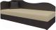Тахта Mebelico 74 левый (экокожа, бежевый/коричневый) -