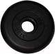 Диск для штанги MB Barbell d31мм 0.75кг (черный) -