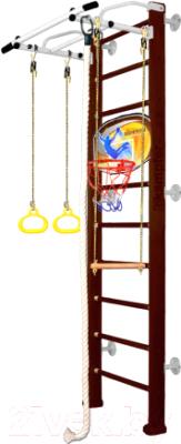 Детский спортивный комплекс Kampfer Helena Wall Basketball Shield (шоколадный/белый антик, стандарт)