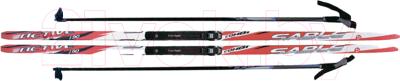 Комплект беговых лыж STC NNN 205/165 (красный)