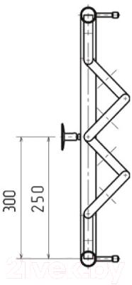 Полотенцесушитель водяной НИКА ПМ-2 50x50 / 570550100 (с полкой)