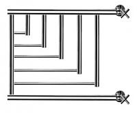 Полотенцесушитель водяной НИКА ПМ-5 50x60 / 720560100 (с полкой) -
