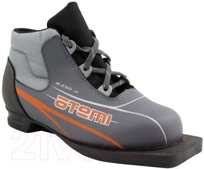 Ботинки для беговых лыж Atemi А230 Jr Grey NN75 (р-р 30)