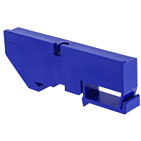 Заглушка на DIN-рейку EKF PROxima ak-1-3 (синий) -