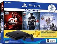Игровая приставка Sony PlayStation 4 Slim 500GB + 3 игры / PS719775614 (с подпиской на 3 месяца) -