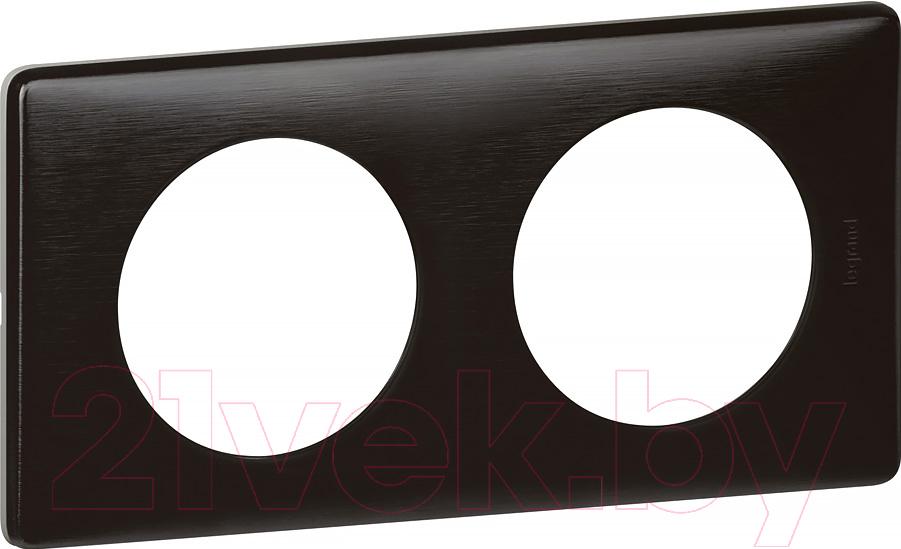 Купить Рамка для выключателя Legrand, Celiane 66742 (черная перкаль), Франция, пластик, Celiane (Legrand)
