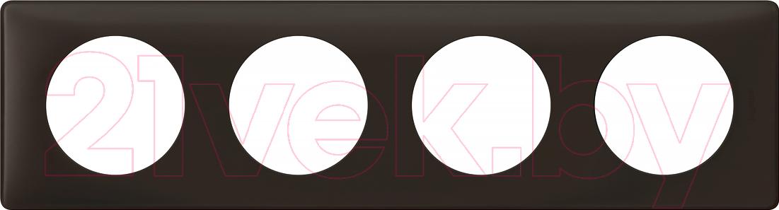 Купить Рамка для выключателя Legrand, Celiane 66744 (черная перкаль), Франция, пластик, Celiane (Legrand)