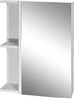 Шкаф с зеркалом для ванной Гамма 05т (белый) -