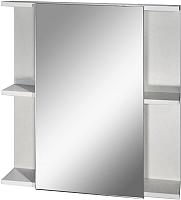 Шкаф с зеркалом для ванной Гамма 07т (белый) -