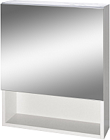 Шкаф с зеркалом для ванной Гамма 12 (белый) -