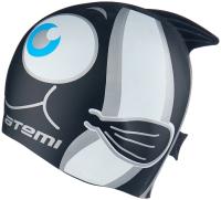 Шапочка для плавания Atemi FC202 (черный/рыбка) -