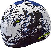 Шапочка для плавания Atemi PSC301 (синий/тигр) -
