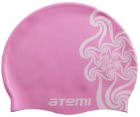Шапочка для плавания Atemi PSC302 (розовый/кружево) -