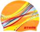 Шапочка для плавания Atemi PSC303 (оранжевый/графика) -