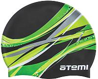 Шапочка для плавания Atemi PSC303 (черный/графика) -