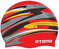 Шапочка для плавания Atemi PSC305 (красный/графика) -