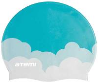Шапочка для плавания Atemi PSC413 (голубой/облака) -
