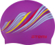 Шапочка для плавания Atemi PSC417 (сиреневый/узор) -