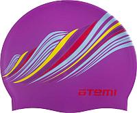 Шапочка для плавания Atemi PSC417 (сиренивый/узор) -